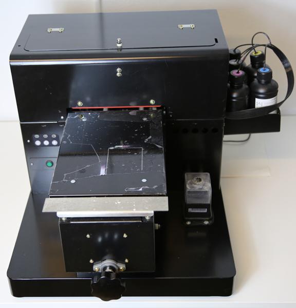 Flachbett UV Drucker A4 von vorne oben