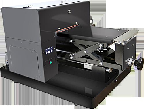 Flachbett UV Drucker A4 links oben