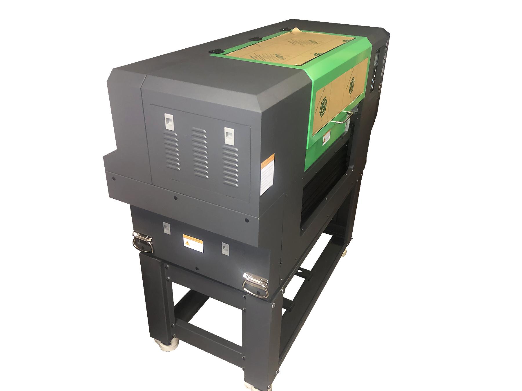 Flachbett UV Drucker von rechter Seite