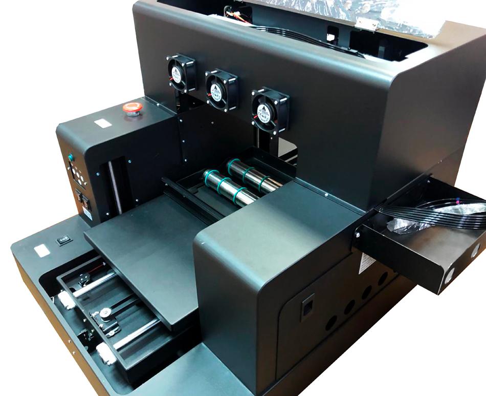 Flachbett UV Drucker A4 von oben-rechts