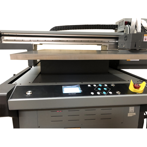 Flachbett UV Drucker A1 von vorne zoomed