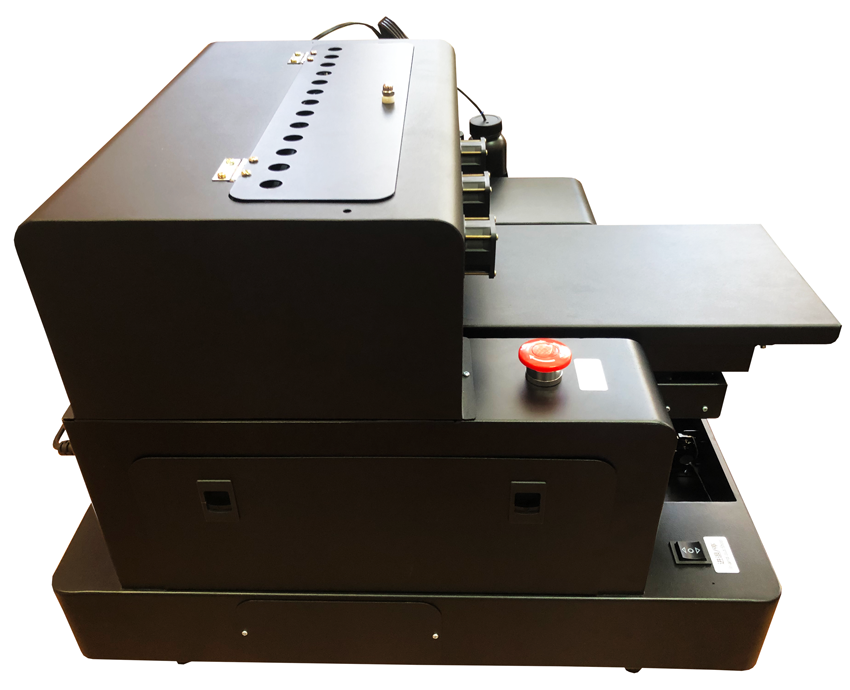 Flachbett UV Drucker A4 von rechts