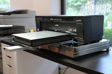 Flachbett DTG Textildigitaldrucker z.B. T-Shirts DIN A3 (300x420mm)