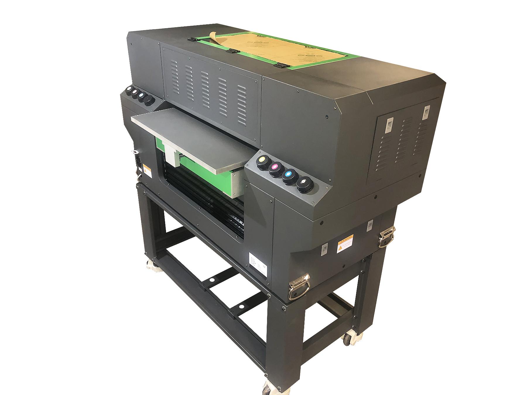 Flachbett UV Drucker von linker Seite
