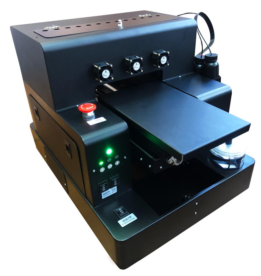 Flachbett UV Drucker A4 von links oben aktiv