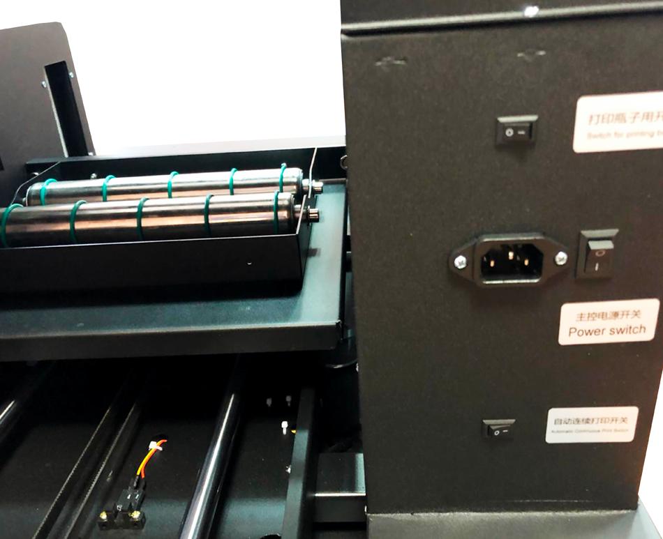 Flachbett UV Drucker A4 von hinten 2